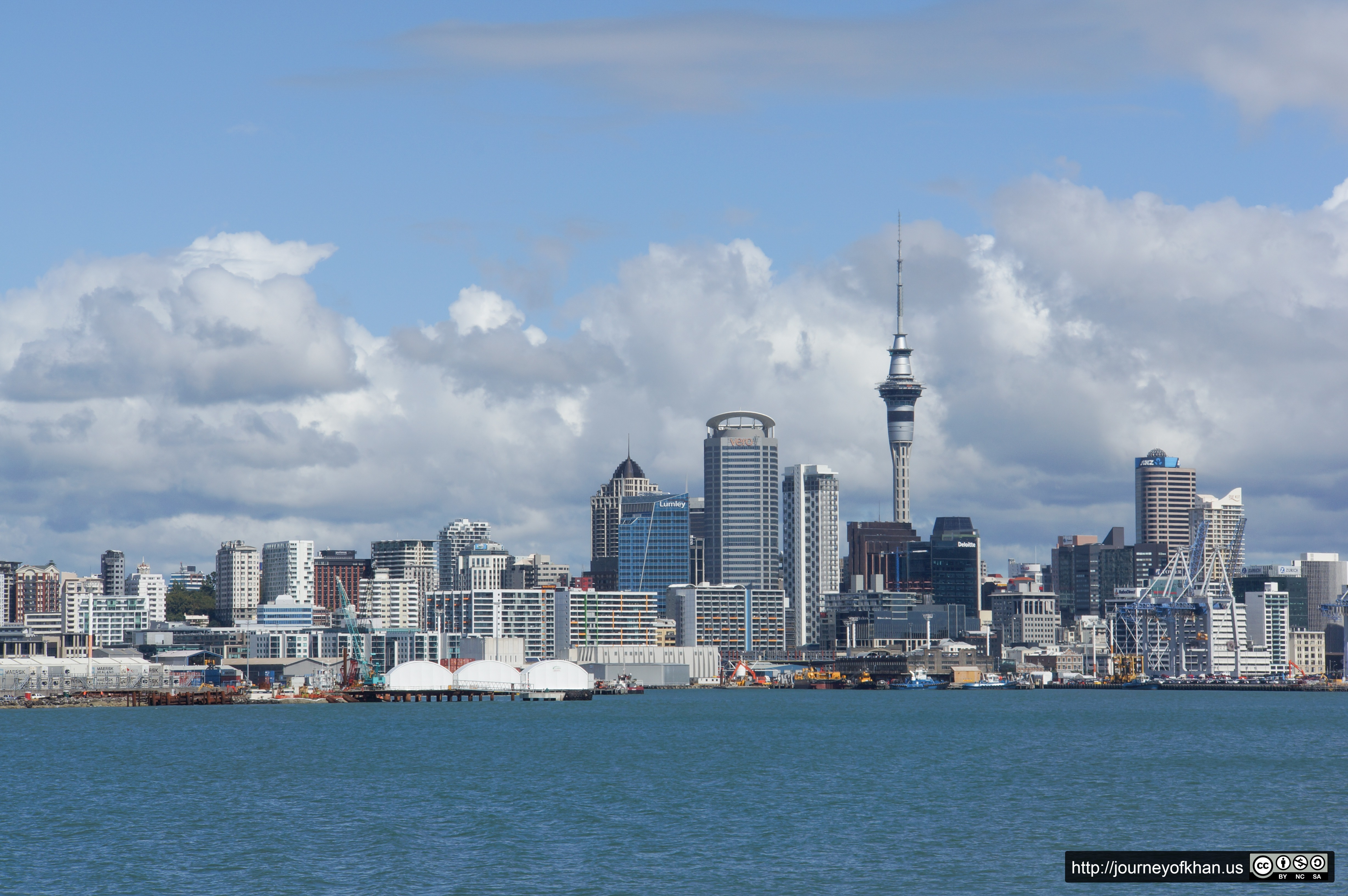 Auckland from a Boat (High Resolution)