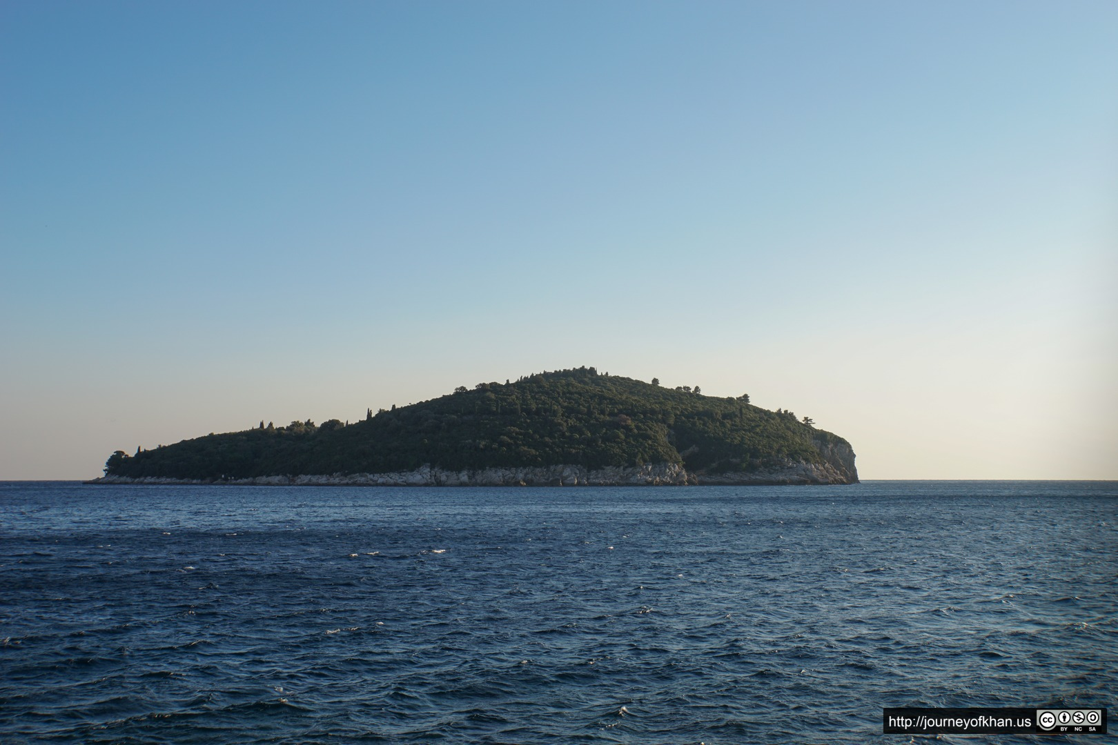 Island outside Dubrovnik