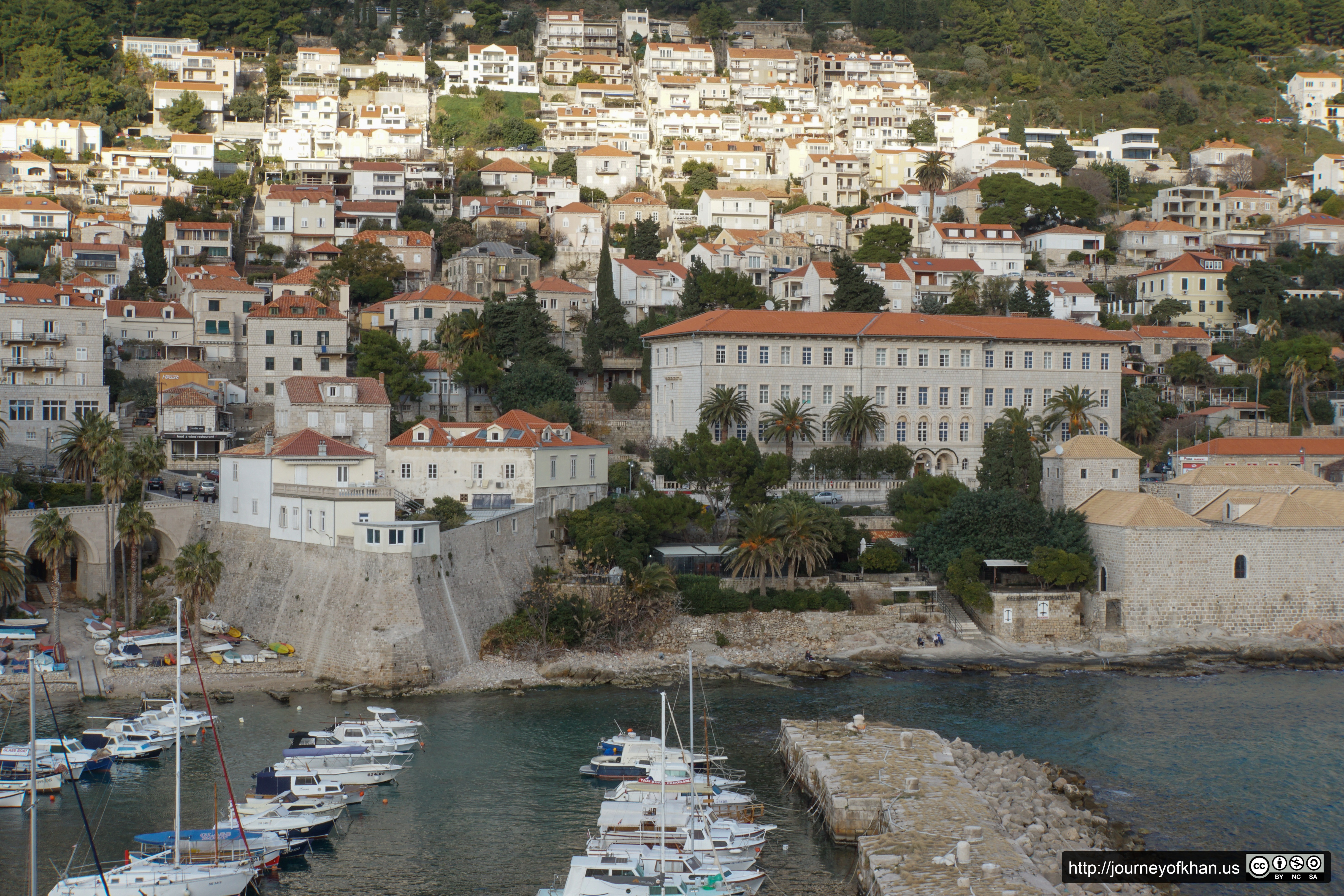 Houses and Boats in Dubrovnik (High Resolution)