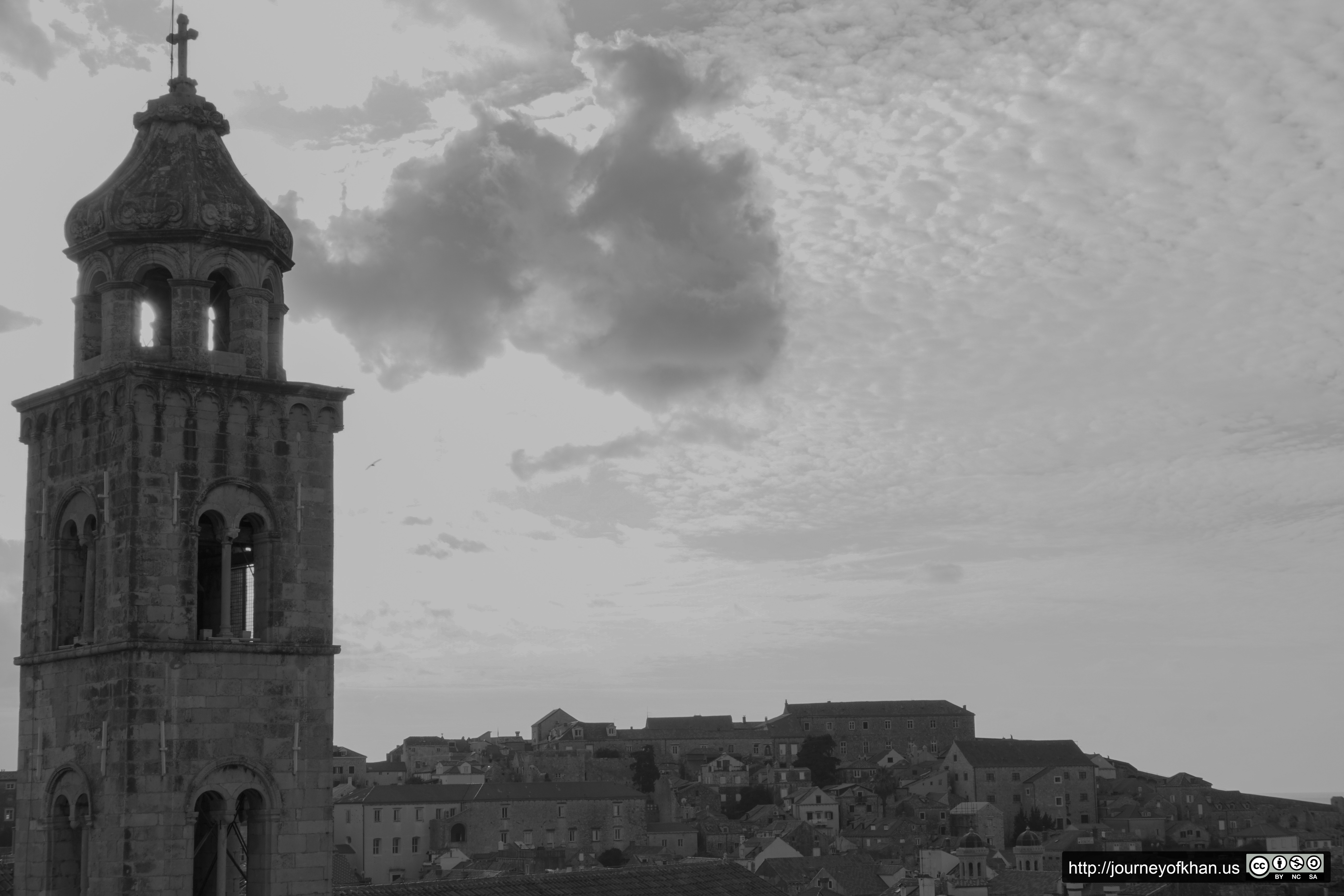 Bell Tower Above the city of Dubrovnik (High Resolution)