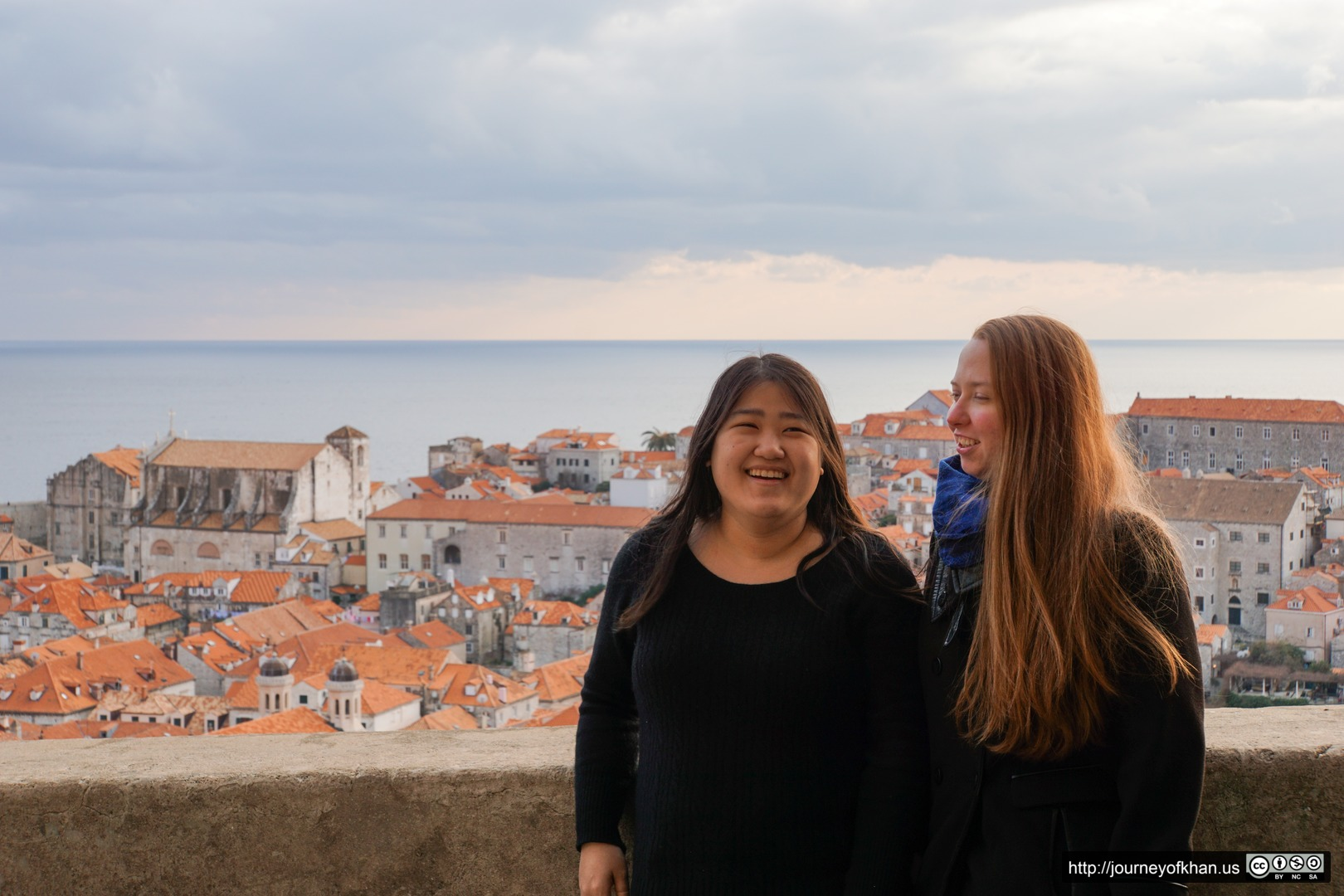 Amy and Kendra in Dubrovnik